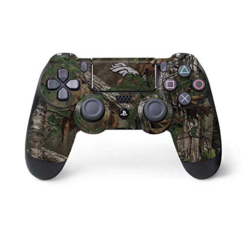 Skinit Denver Broncos Realtree Xtra Green Camo PS4 Controller Skin - Officially Licensed NFL PS4 Decal - Ultra Thin, Lightweight Vinyl Decal Protective Wrap