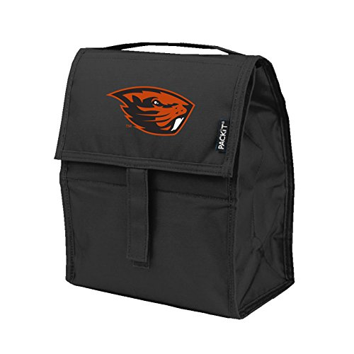 NCAA Oregon State Beavers PACKit Freezable Lunch Bag, Black (Bag Lunch Beaver)