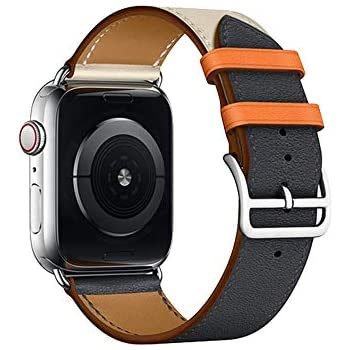 Amazon.com: Leather Band Compatible with iWatch 44mm 42mm