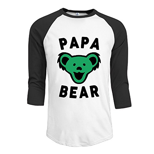 This Level Men's Papa Bear Best Dad Ever Grateful Dead 3/4 Sleeve T-shirts ()