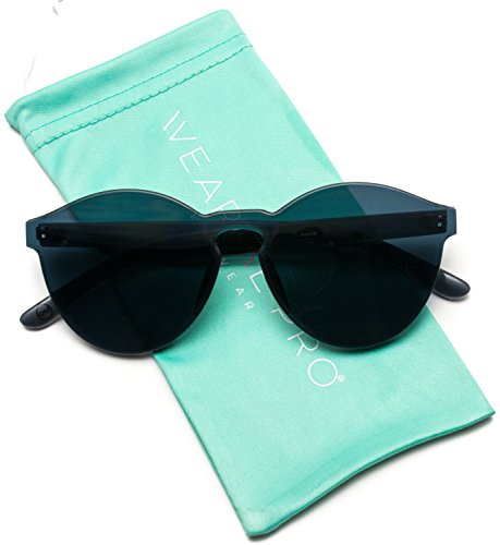 Rimless Fashion Sunglasses - WearMe Pro - Colorful One Piece Transparent Round Super Retro Sunglasses