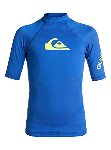 S/s Rash Vest (Quiksilver Boys All Time - Short Sleeve Upf 50 Rash Vest Short Sleeve Upf 50 Rashguard Blue S/10)
