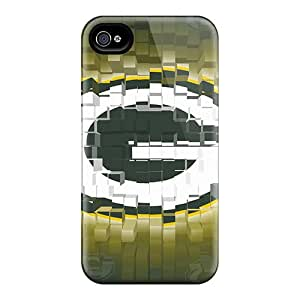 WandaDicks Iphone 4/4s Best Cell-phone Hard Cover Unique Design Vivid Green Bay Packers Series [vtE3329ArPx]