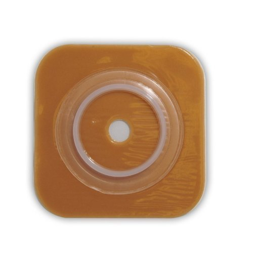 Convatec 401574 SUR-FIT Natura Stomahesive Skin Barrier; No Tape Collar, 38mm (1 1/2'') Flange, 4'' x 4'', 10/BX