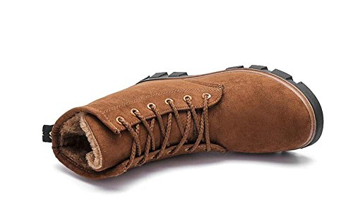 Damen Version plus Winter flach Damenstiefel Baumwolle Damenschuhe Schneestiefel Martin KUKI brown Baumwollschuhe Stiefel koreanische warm xZPwWg