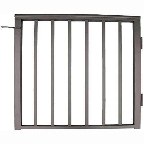 EZ Handrail 36 in. x 36 in. Bronze Pre-Built Aluminum Single Panel Walk Through Gate with 1 in. Square Balusters (Handrail Ez Aluminum)