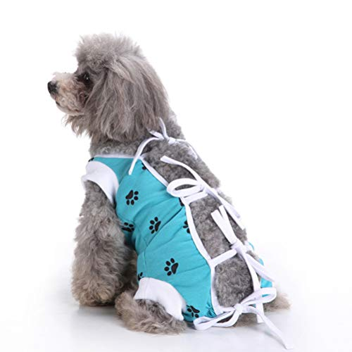 BESBOMIG Pet Surgical Surgery Clothes for Dog Cat - Medical Protect After Surgery Dog Recovery Clothing, Easy to Use -