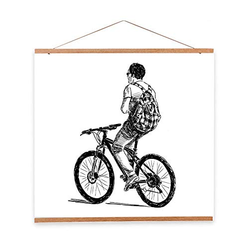 Large Magnetic Wooden Photo Frame DIY Custom Poster and Artwork Canvas Print Hanger For Home Decoration (Size : 70cm/27.55inch) -