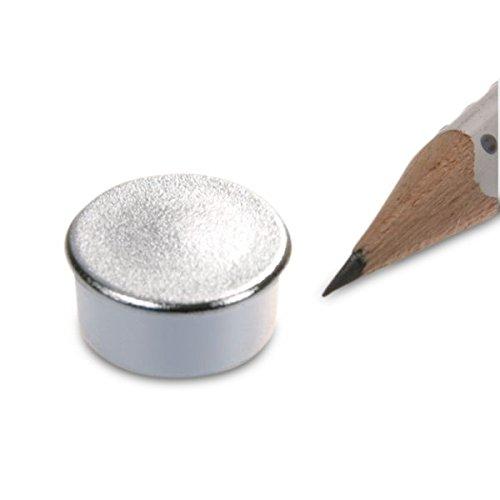 memomagnet Ø 16x 7mm ferrite–Argent–Tient 300g magnetshop MM-16x07-SI