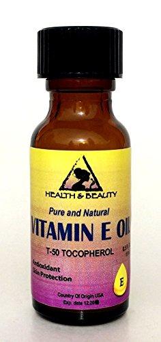 Tocopherol T-50 Vitamin E Oil Anti Aging Natural Premium Pure 0.5 oz in Glass Bottle