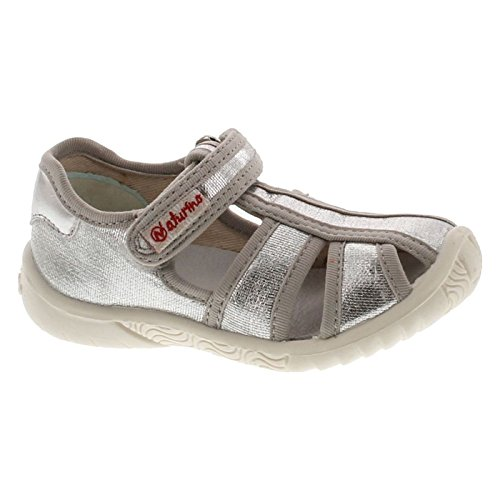 Naturino Girls 7785 Metallic Fashion Canvas Sandals,Tess.Lux Argento,24