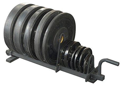 York Barbell 69041 Full Set Horizontal Plate Rack, Black