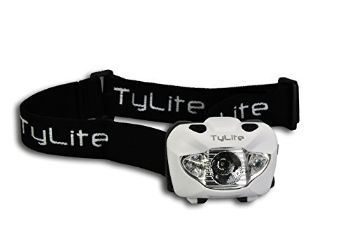 TyLite LED Headlamp Flashlight with Red Lights Best High Quality for Camping, Hiking, Night Vision. Waterproof, Bright Dimmable Spotlight, SOS Strobe Flashers, Adjustable Band, 3 AAA Duracell Batteries Included. Buy - Vision Spotlight Night