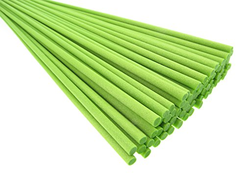 Breath Me TM 50pcs Lime Green Reed Diffuser Fibre Sticks 12 inch for Air Freshener and Aroma ()