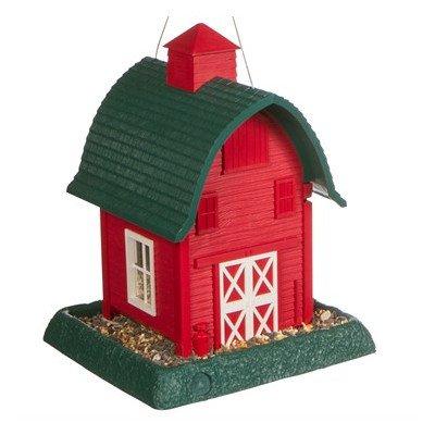 Barn Hopper Bird Feeder Color: Red