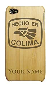 Bamboo iPhone 4/4S Case/Cover - HECHO EN COLIMA - Personalized for FREE (Click the CONTACT SELLER link after purchase to tell us your engraving request)