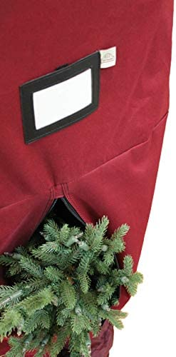 612 Vermont Heavy-Duty Upright Christmas Tree Storage Bag for Artificial Trees as much as 9 Foot Tall, Durable Woven Polyester Fabric, Stand Not Included