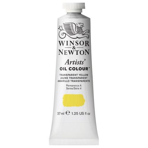 (Winsor & Newton Artists' Oil Colour Paint, 37ml Tube, Transparent Yellow)
