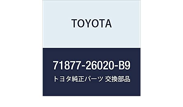 TOYOTA 71877-26020-B9 Seat Armrest Cover