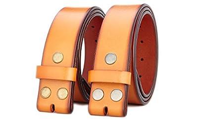 "Gurscour Men's Belts Genuine Leather Belt without Buckle 1.5""(38mm)"