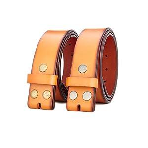 Gurscour Men's Belts Genuine Leather Belt without Buckle 1.5″(38mm)