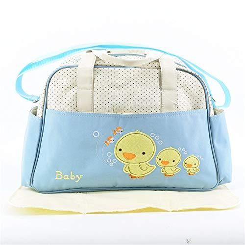 color embarazadas Bolso aqua capacidad para momia azul multifuncional inclinado de las grande de de de manera los mujeres Impresiones la bolso hombro del la Bolso Aqua de la patos azul SZFxwqS4