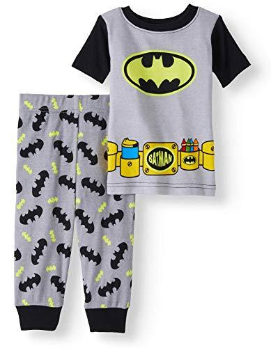 Baby Boys Batman Snug Fit Cotton Pajamas Size 9 Months -