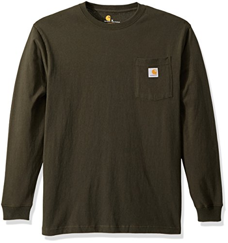 (Carhartt Men's Workwear Pocket Long Sleeve T Shirt K126, peat, Medium )