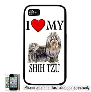 Shih Tzu I Love My Dog Apple iPhone 4 4S Case Cover Black by mcsharks