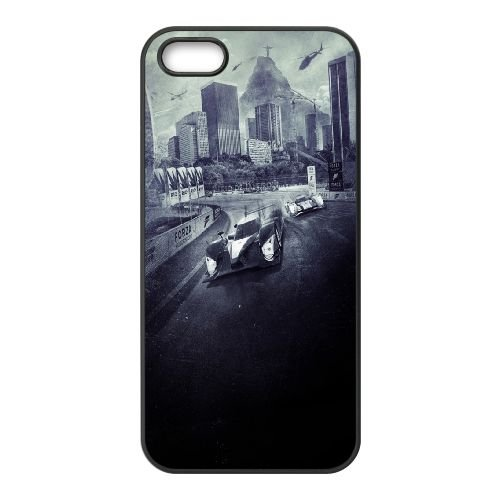 Forza Motorsport 6 coque iPhone 4 4S cellulaire cas coque de téléphone cas téléphone cellulaire noir couvercle EEEXLKNBC25109