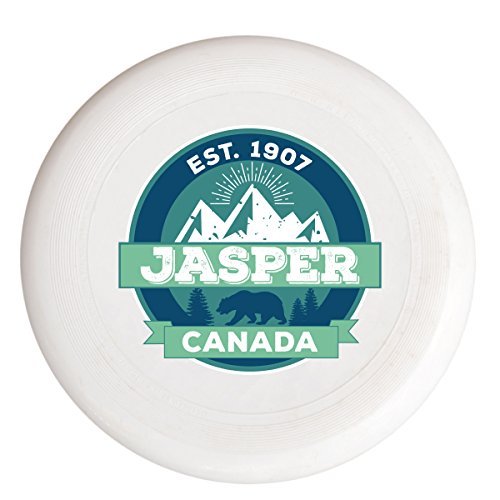- Jasper Canada National Park Alberta Spirit Lake Mountain Bear Souvenir Frisbee Flying Disc