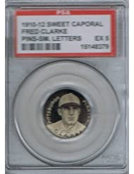 1910 Sweet Caporal FRED CLARKE P2 Pin (sm ltr) (PSA 5 EX) MLB Hall of Fame