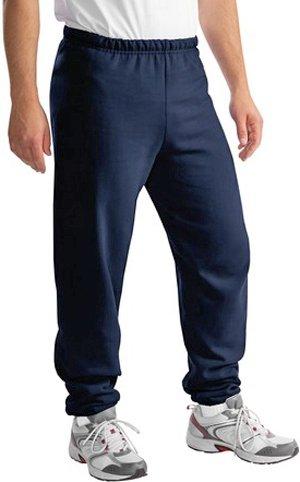 Jerzees Cotton/Poly Sweatpants (No Pockets), Medium Navy ()