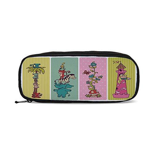 - Nursery,Vintage Children Banner Set Animals Safari Palm Tree Flowers Princess Mushroom,9.4