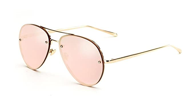 5f6dad56d8 GAMT Aviator Sunglasses for Women Metal Frame Eyeglasses Gold-Barbie Pink