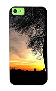 Stylishgojkqt High Quality Shock Absorbing Case For Iphone 5c-tree Silhouette In The Sunset