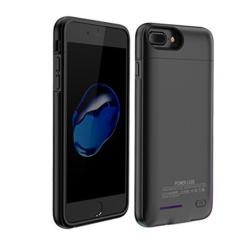 4200Mah Battery Charger Case For Both iPhone7Plus and iPhone 6(S) Plus 5.5'' Battery Case Rechargeable Backup Battery Power bank Charger Case,Magnet bracket (Black 5.5'' iPhone 7 plus/ 6 plus/6S plus)