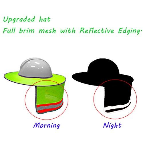 2856b94e496 SATINIOR Full Brim Sun Neck Shield Mesh Sun Shade Protector for Hard Hats.