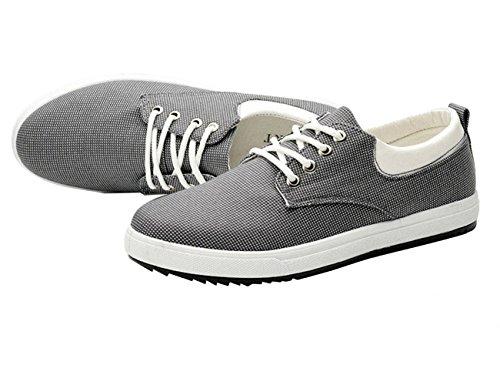 Bomkin classiche da uomo nuovo tela grigio Scarpe rqU1xzSr