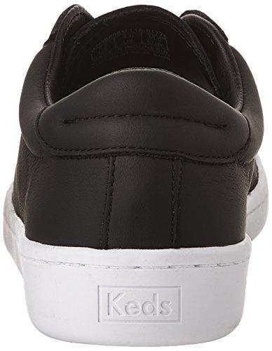 Sneaker Fashion In Pelle Nera Da Donna