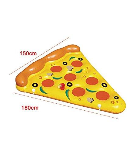 ZHANGJIANJUN 180cm inflables Piscina Pizza Ring flotadores inflables Juguetes de Piscina de Agua Donut Nadar Anillo para Adultos Divertido Nadar Colchón de ...