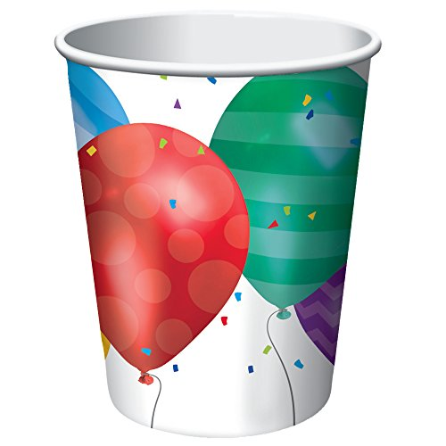 Creative Converting 8 Count Balloon Blast Hot/Cold Cups, 9 oz, Multicolor