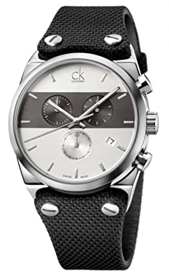Calvin Klein Eager Chronograph Black Fabric Strap K4B371B6