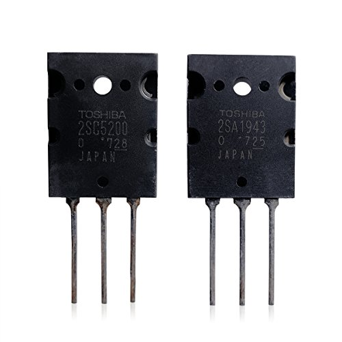 (2SA1943 2SC5200 Pair of PNP and NPN Power Amplifier Transistor for Fidelity Audio)