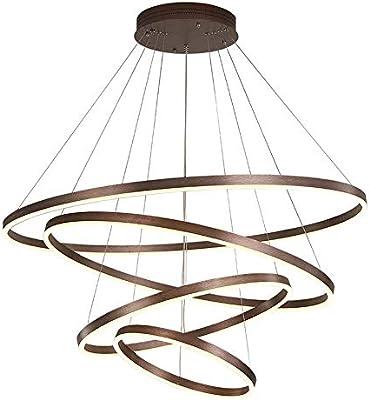 DLC@ED Lámparas de araña Novely: luces colgantes redondas y ...