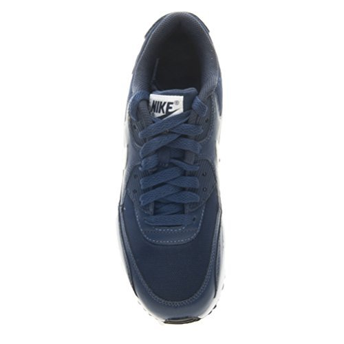 Nike Air Max 90 Mesh (GS) Trainers 833418 Sneakers Shoes (3.5 M US BIG KID, midnight navy white black 400)
