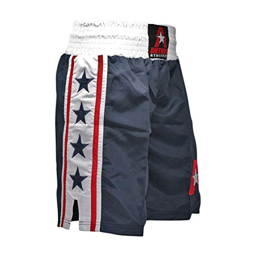 Anthem Athletics Classic Boxing Trunks Shorts - Blue, White & Red - XX-Large