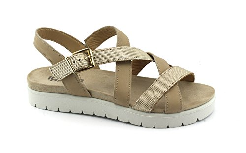 Beige Zapatos Correa de Sandalias 1171233 IGI amp;Co de de Platino Color Beige Cuero de U68WTXURcq