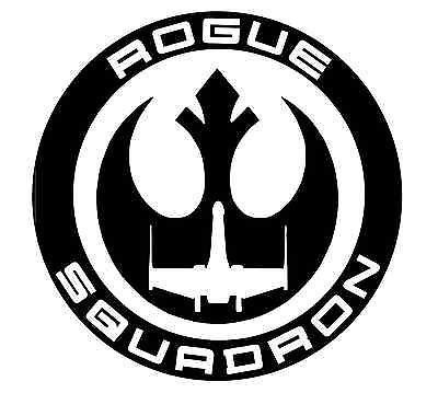 Star Wars Rogue Squadron Black Decal Vinyl Sticker|Cars Trucks Vans Walls Laptop| Black |5.5 x 5.5 in|LLI517