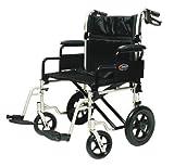 Bariatric Transport Wheelchair - 400 lb Capacity - 12.5 inch Rear Wheels